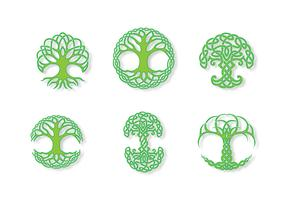 Green Celtic Tree Vector