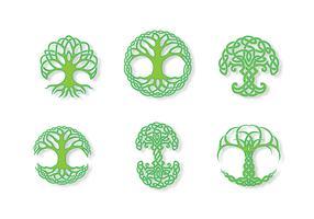 Green Celtic Tree Vector
