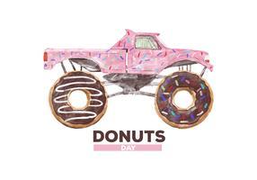 Free Donuts Watercolor Vector