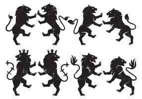 Heraldik-Löwe