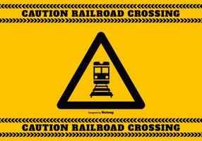 Railroad Crossing Caution Sign