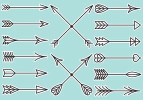 Flechas linhas flechas