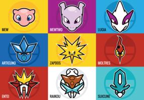 Legendary Pokemon Vectors
