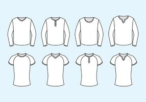 Set Of Raglan Vector