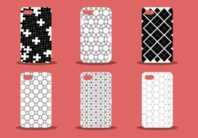 Trendy Phone Case Pattern Vector Set