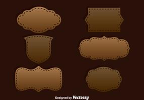 Brown Label Template Vector