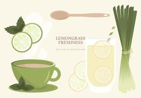 Lemongrass Vector Illustration
