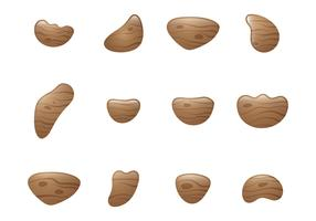 Wood Climbing Grip Vectors