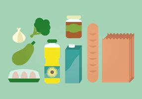 Groceries Vector Illustration