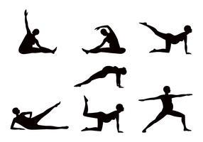 Pregnancy Yoga Sillhouette