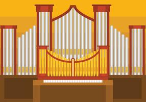Pipe Organ Vector illustration