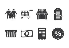 Family Shopping Icon Set