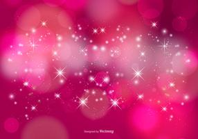 Pink Stardust Bokeh and Stars Background