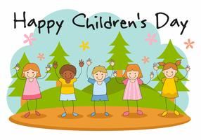 Free Happy Children's Day Vector