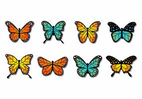 Free Colorfull Butterfly Vector