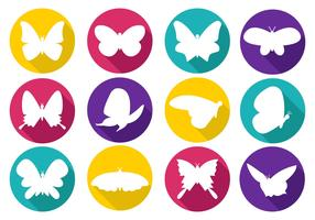 Free Colorfull Papillon Icons Vector