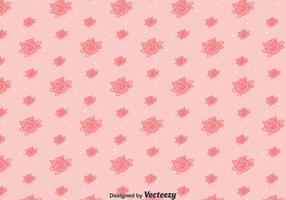 Pink Line Pansy Flower Pattern