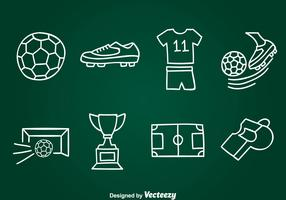 Hand Drawn Football Element Vector