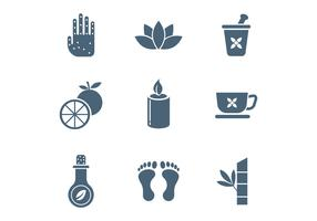 Free Spa and Relaxation Vector Icons