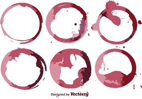 Abstract Wine Stain Vector Set
