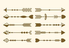 Free Set of Arrow Clip Art Vector Illustration