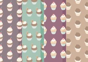 Vector Cupcake Pattern