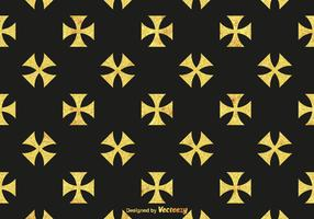 Free Golden Maltese Cross Vector Pattern