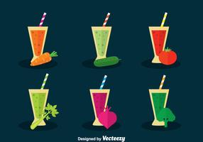 Vegetable Juice Vector Set