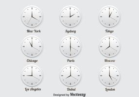 World Time Zone Icons Set