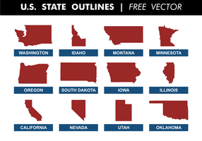U.S. State Outlines Free Vector