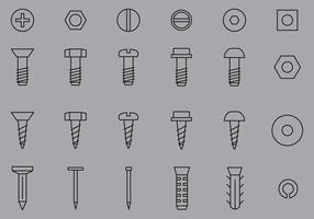 Nail And Screw Icons