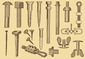 Screw And Nail Drawings