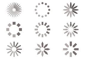 Circle Preloader Vector Set