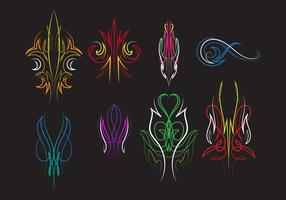 Pinstripes Ornament Vectors