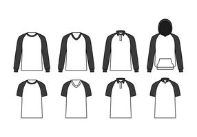Raglan Template Vector