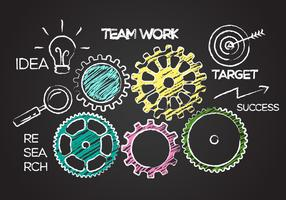 Free Team Work Concept Illustration Vector