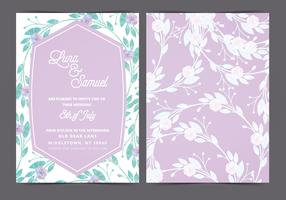 Vector Lilac Wedding Invite