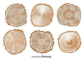 Wood Logs Collection Vector
