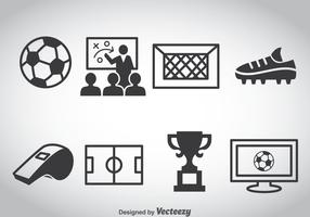 Football Element Icons Vector