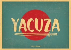 Retro Style Yacuza Illustration