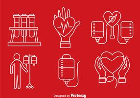 Blood Donation Line Icons
