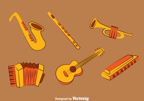 Hand drawn Music Instrument Vector Set