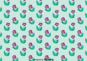 Purple Pansy Flower Pattern