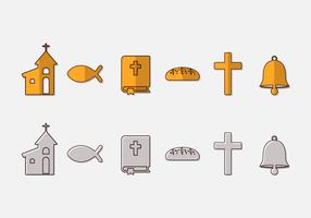 Communion Icon Vector Set