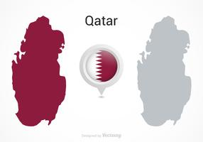 Free Vector Qatar Flag Map Pointer