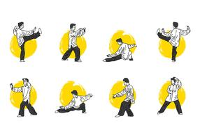 Tai Chi Pose Vector