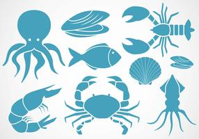 Free Seafood Icons Vector