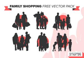 Family Shopping Free Vector Pack
