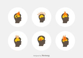 Free Head Burnout Vector Icons