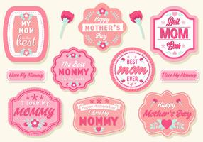 Free Mother's Day Badges Vector